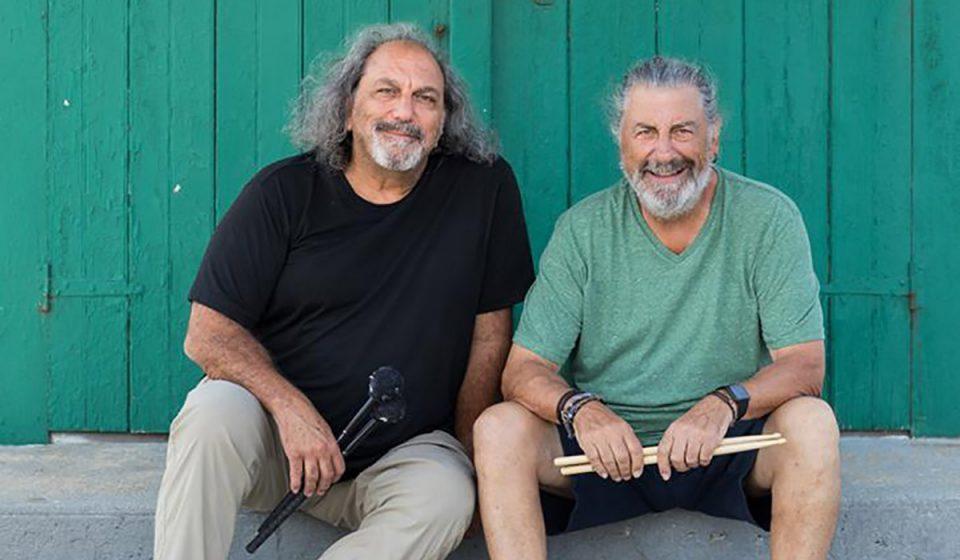 Drummers Jerry Marotta and Rick Marotta